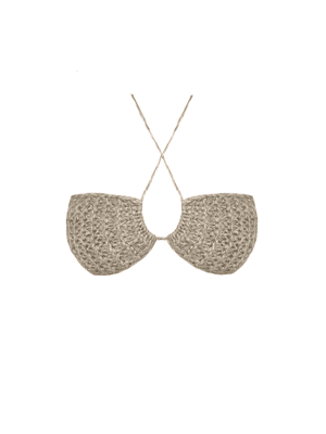 Knitted Bralette Top, Beige