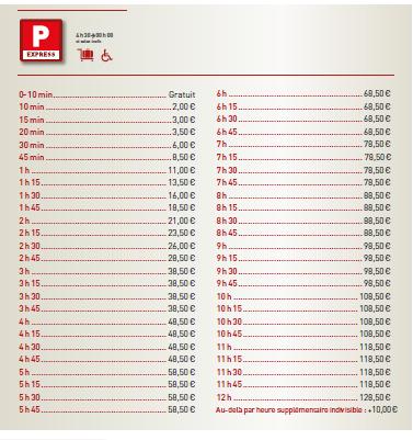 prix parking aeroport Bordeaux P express