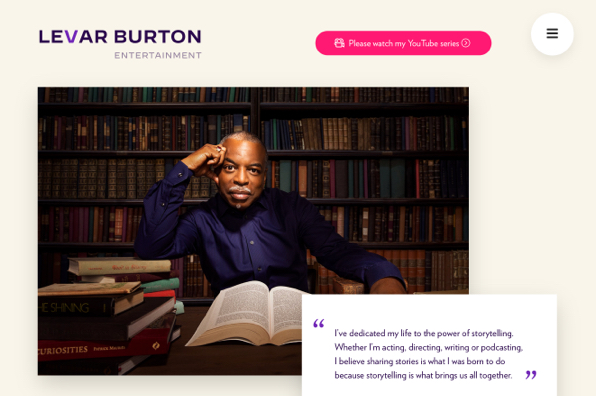 Screenshot of LeVar Burton
