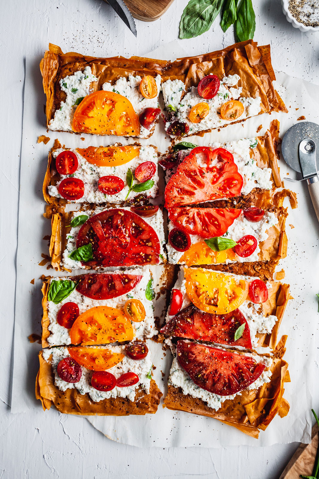 free shipping 604b3 6cff6 Tomato Phyllo Herbed Ricotta Tart