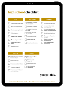 Fearless Homeschoolers high school checklist