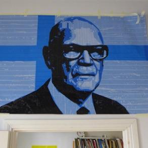 "Nikolai Vasiliev, Russia. ""UKK"" 2016. Piece of Tape Art, 97x160cm"