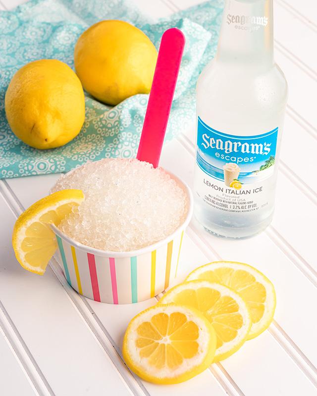 Lemon Italian Ice Granita Recipe Image