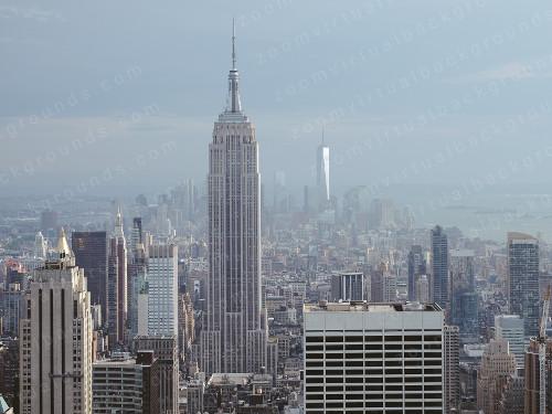 New York City Skyline Virtual Background for Zoom daytime