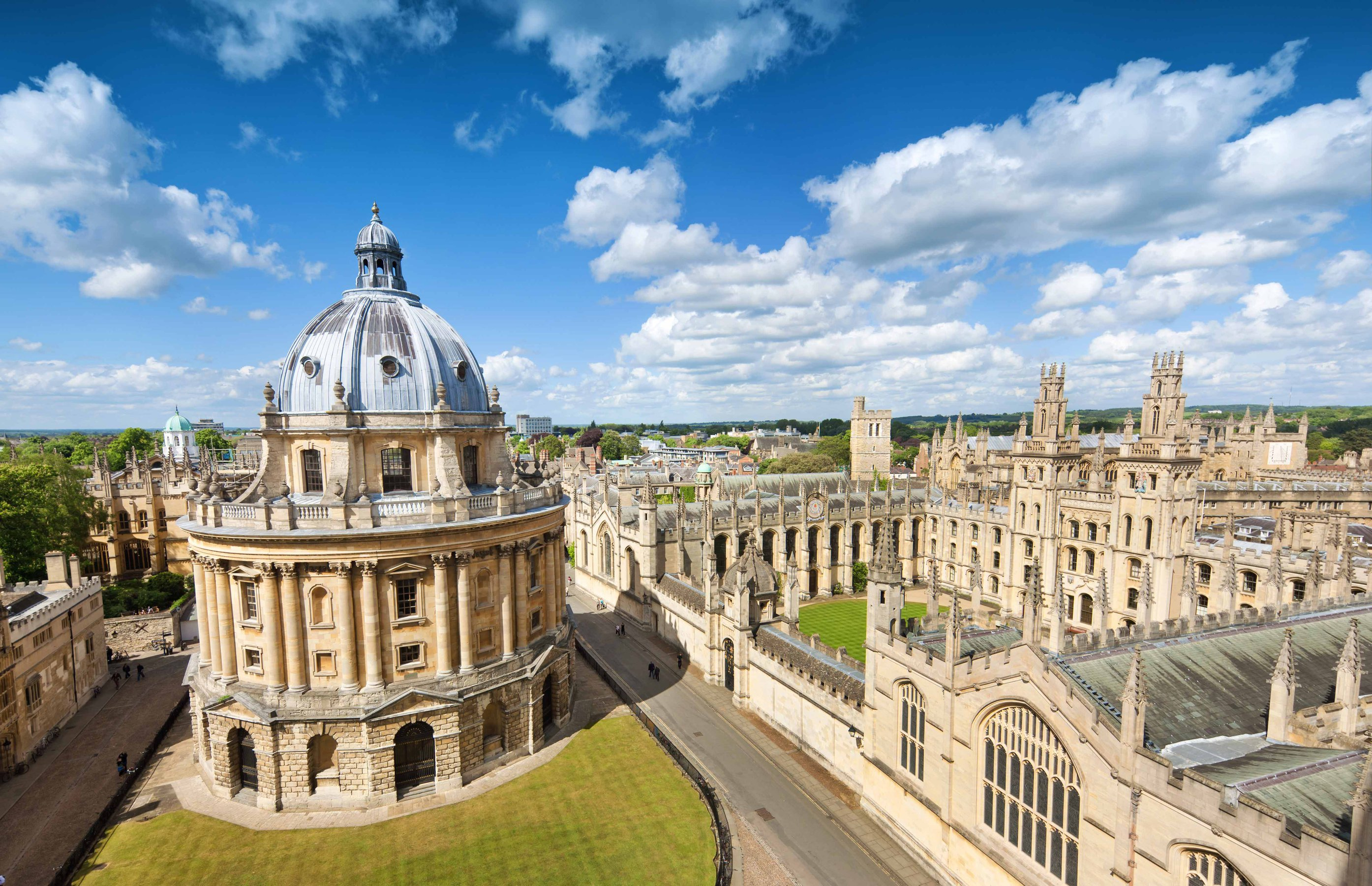The dome structure in Radcliffe Square at the Oxford University campus