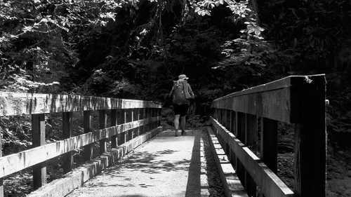 Crossing Rock Creek Bridge