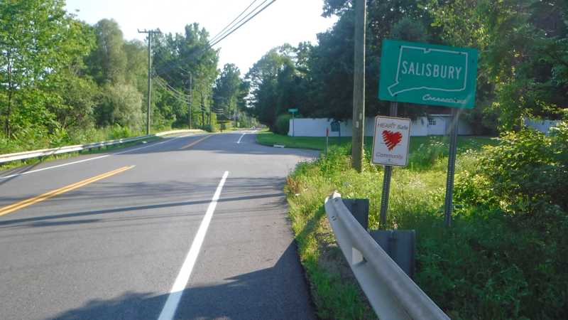 Entering Salisbury, Ct.