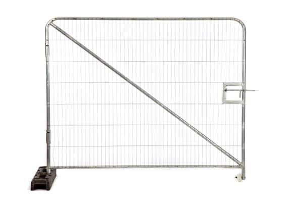 Temp fence single vehicle gate