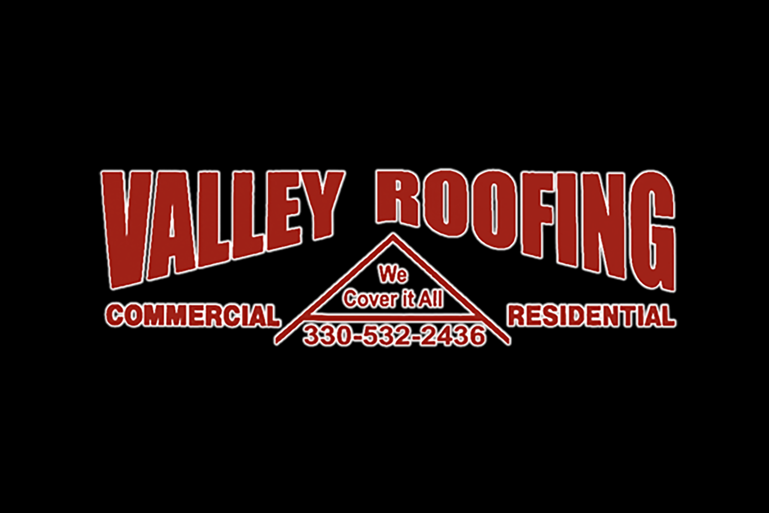 The official logo of Valley Roofing of Wellsville, Ohio.