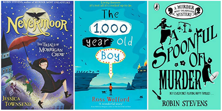 Nevermoor, The 1,000-year-old Boy, A Spoonful of Murder