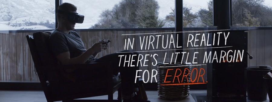 Jamie ad of man using virtual reality headset