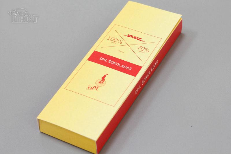 Šokolado firminės dėžutės