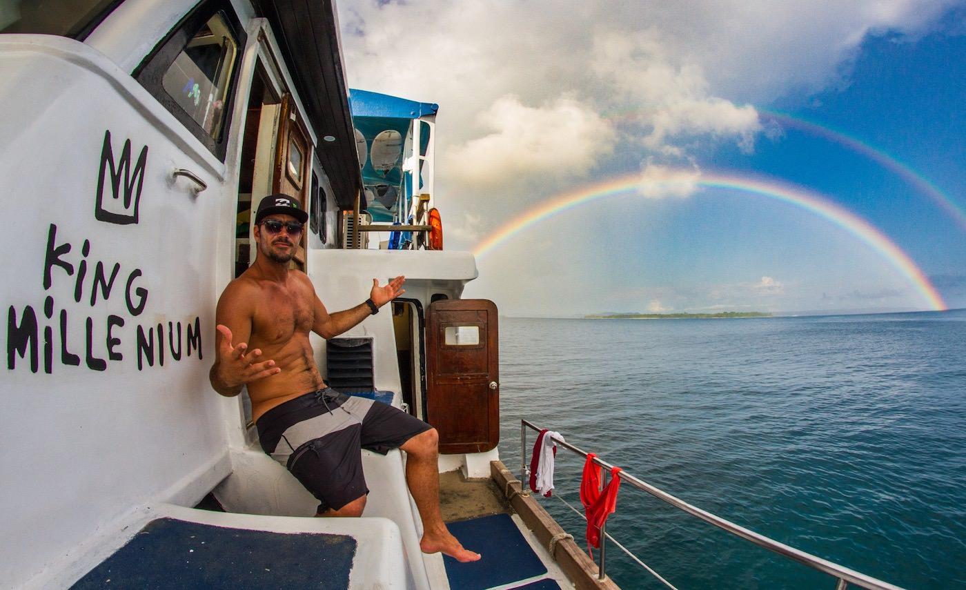 King Millenium Surf Charter Boat Mentawai Islands Rainbow views