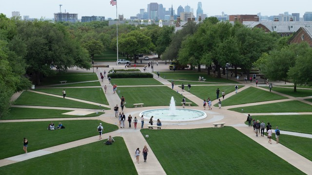 Photograph of SMU Cox campus