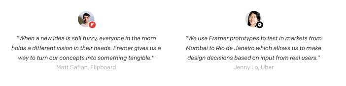 Framer quotes