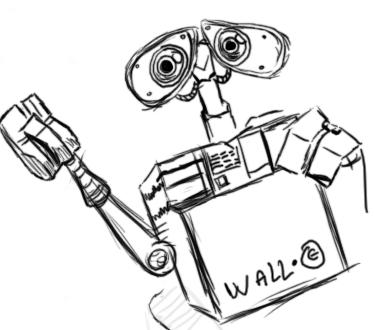 Wall-e Happy Sketch