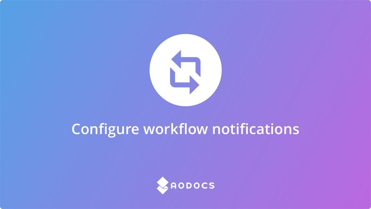 Configure workflow notifications's thumbnails