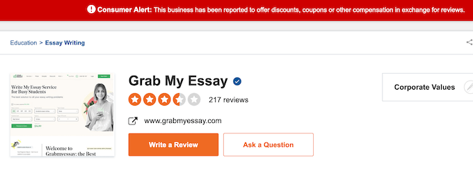 grabmyessay.com reviews at sitejabber