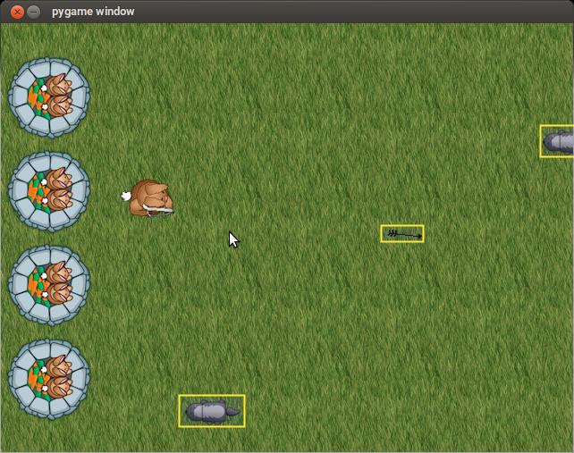 Objek rectangle pada game