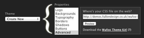Custom CSS file set up on Wufoo