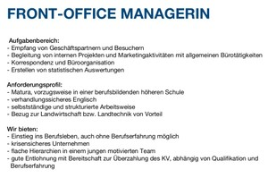 FRONT-OFFICE MANAGERIN