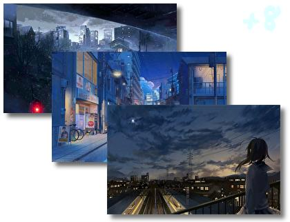 Night Scenery Anime theme pack