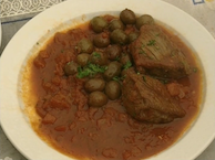 Beef In Tomato Sauce And Green Olives