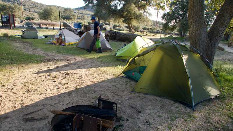 Tents at Boulder Oaks Campground