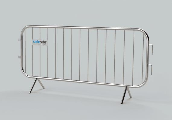 2.3m metal pedestrian barrier