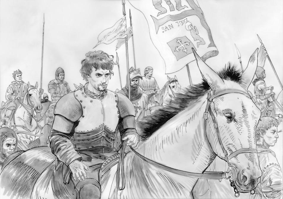Atoleiros Battle animatic - Storyboard — Nuno Álvares Pereira leads troops towards Atoleiros