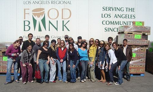 Answer With Action Volunteers at the LA Food Bank