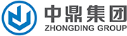 Logo Zhongding Group Europe. Blue Symbol in blue circle and chinese symbols