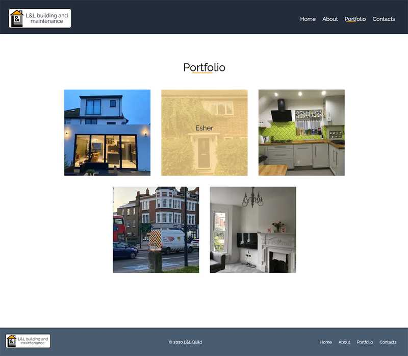 LandL Build Portfolio Page