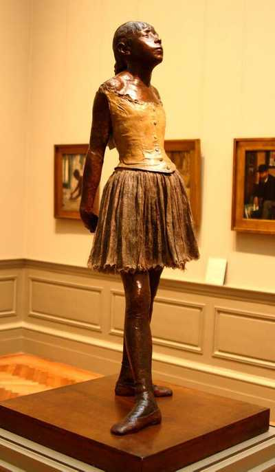 The Little Fourteen-Year-Old Dancer is a sculpture c. 1880 by Edgar Degas of a young student of the Paris Opera Ballet dance school, a Belgian named Marie van Goethem.
