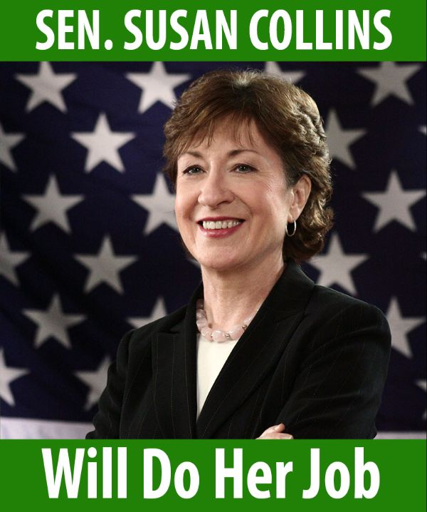 Senator Collins will do her job!