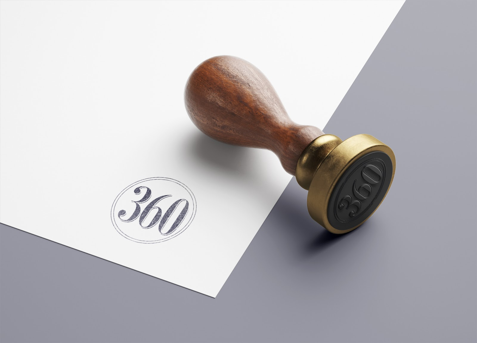 A stamp of the 360 Farms seal
