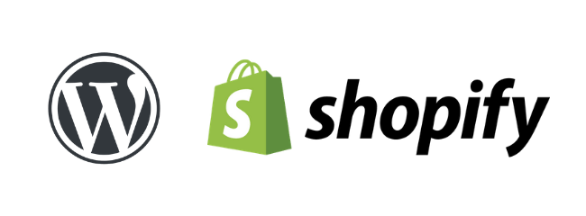 WordPress, Shopify and website logos