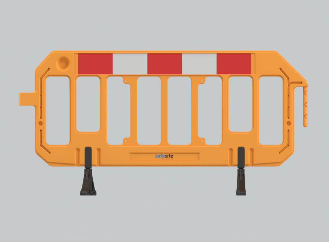 Orange gate barrier front