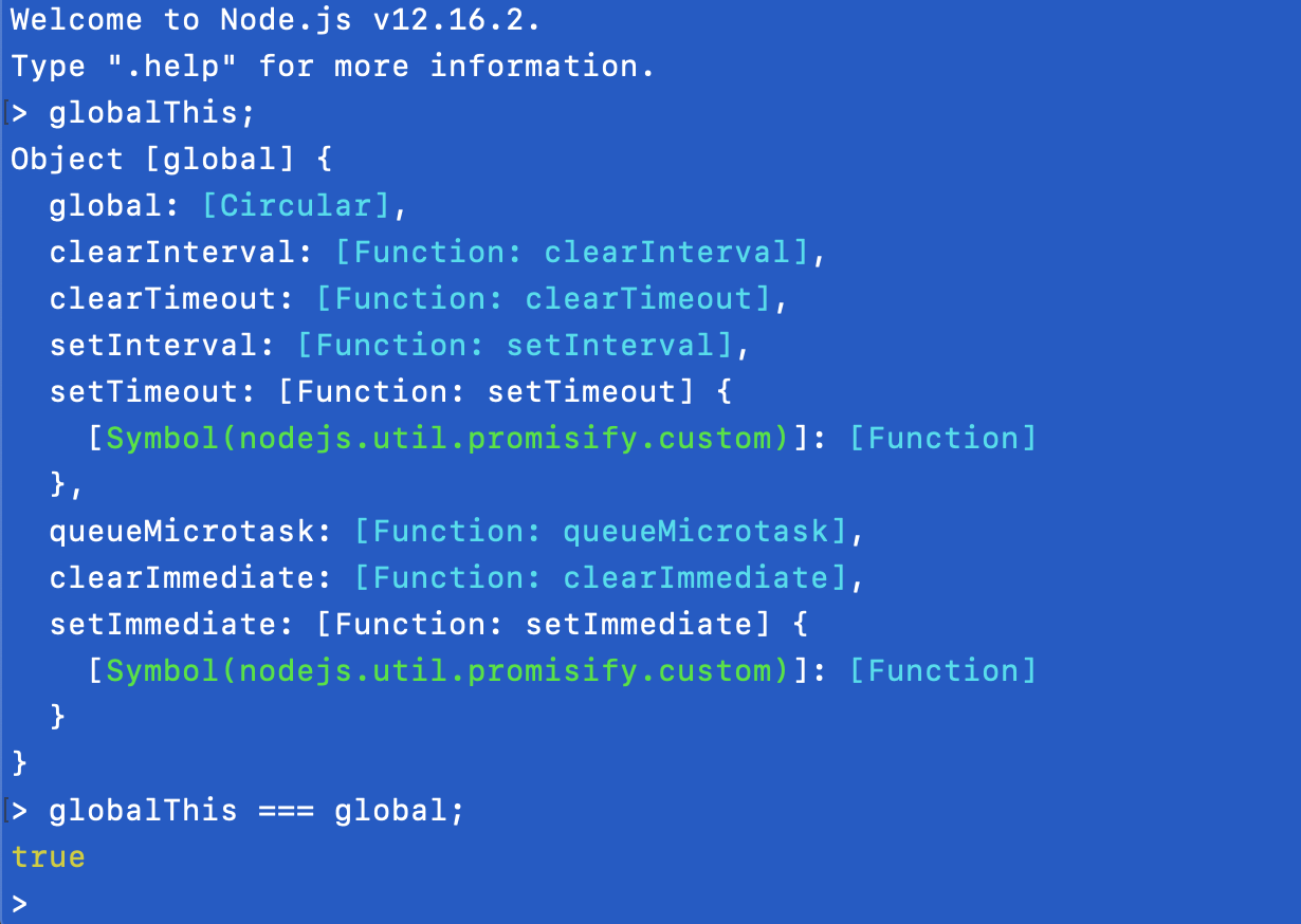 globalThis example