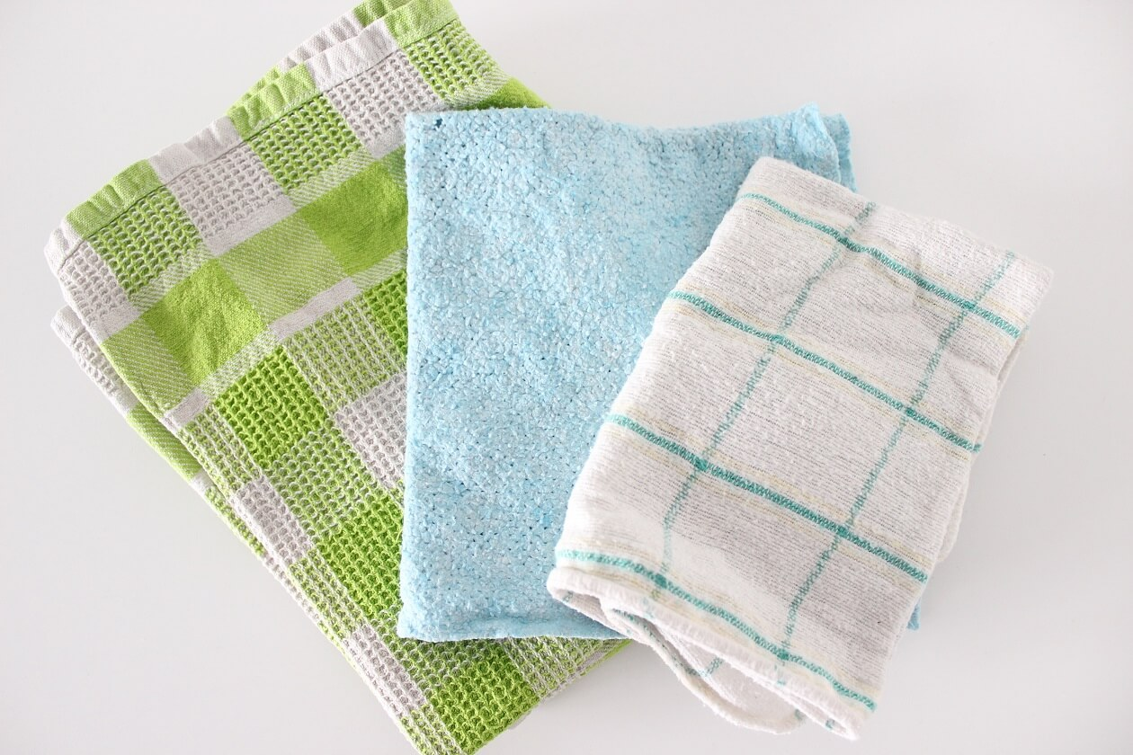 Waschbare Spül-, Putz und Staubtücher in verschiedenen Farben