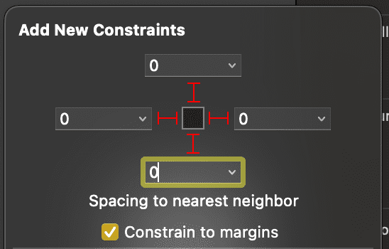 table view add constraints