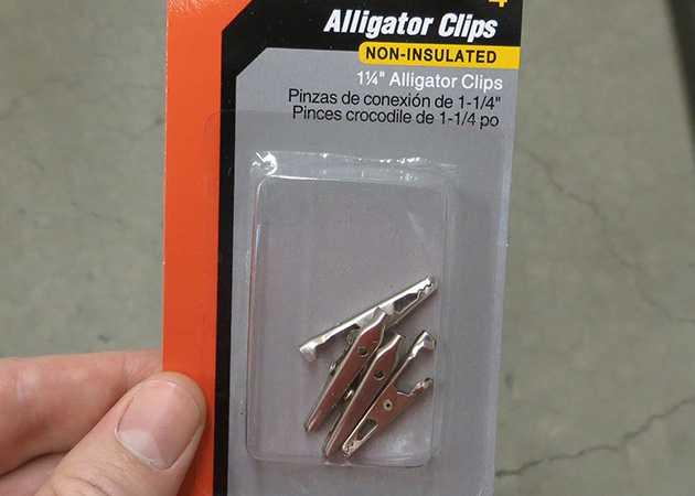 1.25 inch Non-Insulated Alligator Clips