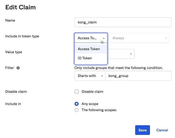 Okta Edit Claim Access Token