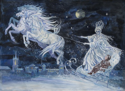 Snow Queen painting by Elena Ringo