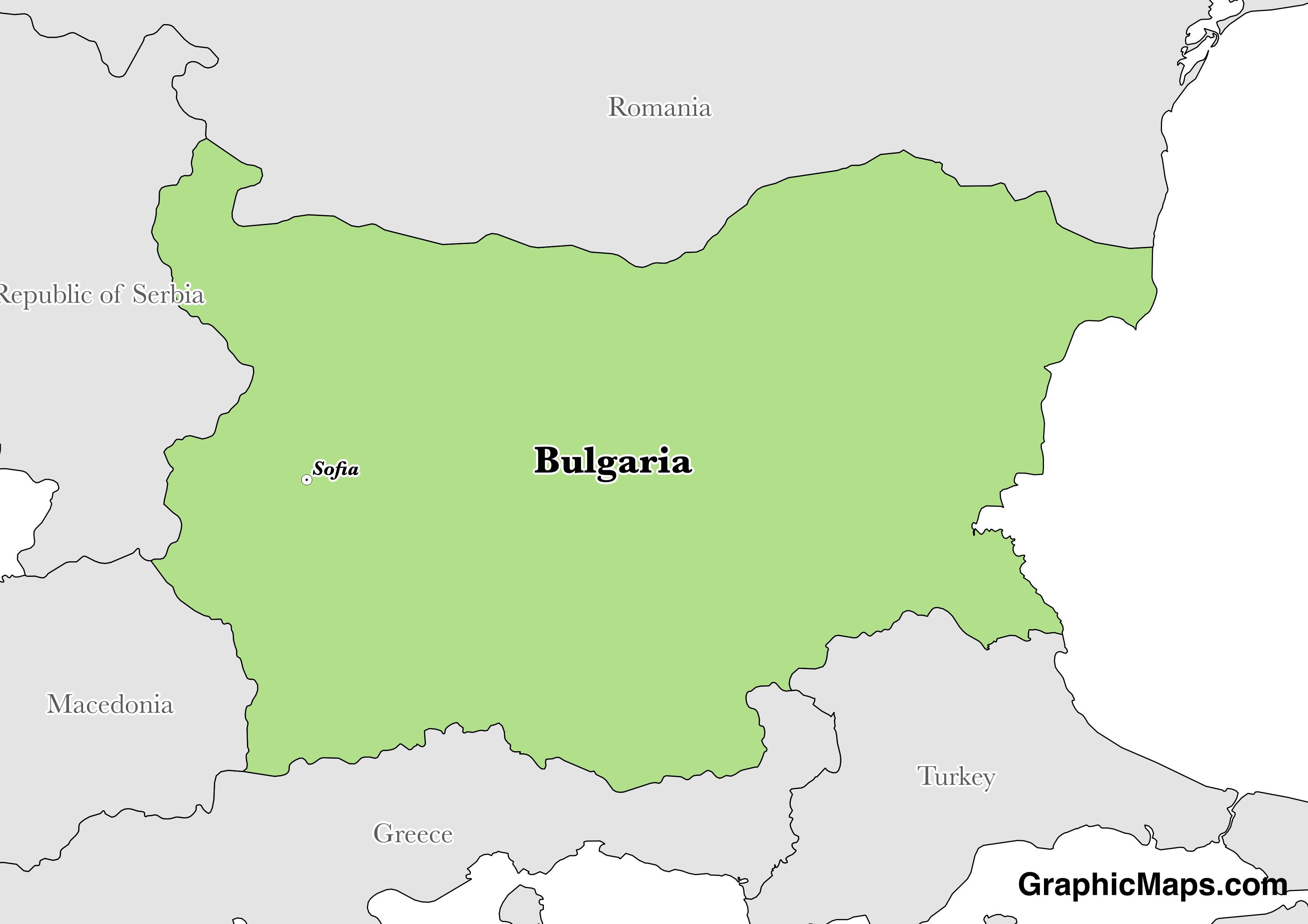 Bulgaria / GraphicMaps.com