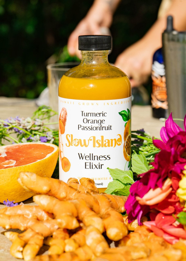 Slow Island | Tumeric Orange Passion Fruit Elixir