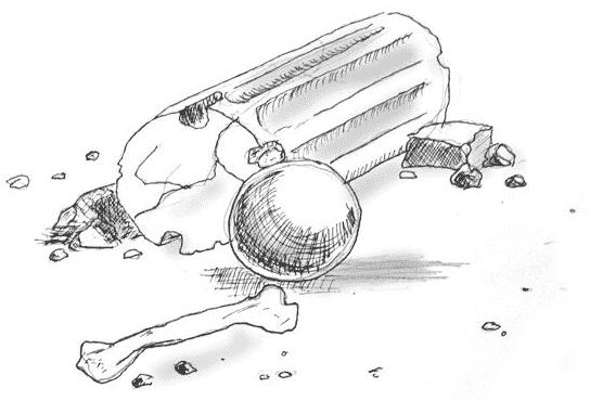 Umgefallene Säule