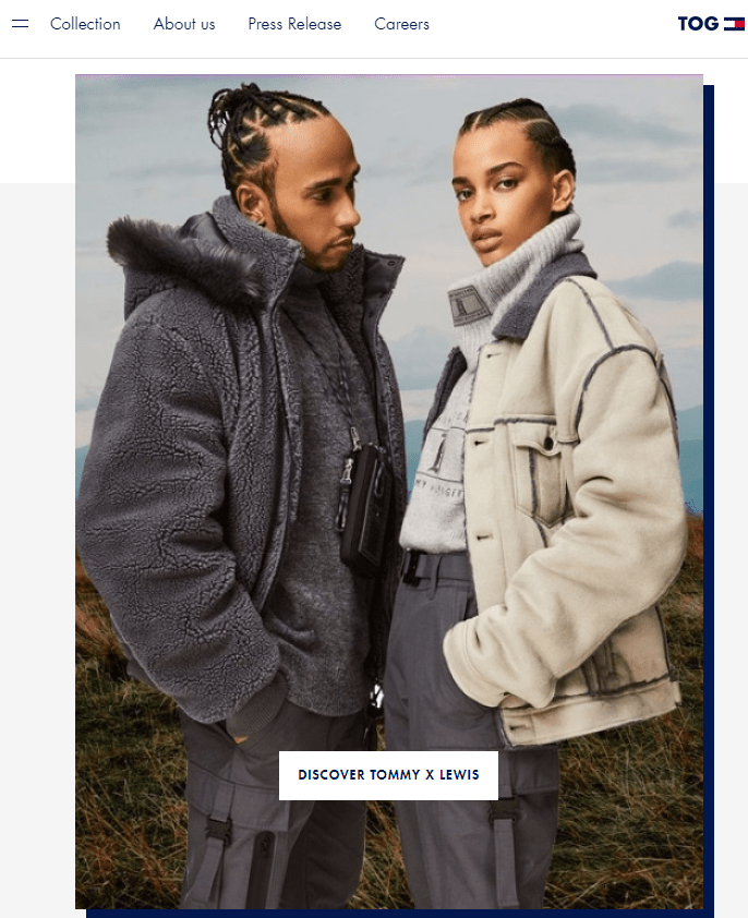 Tommy hilfiger website banner