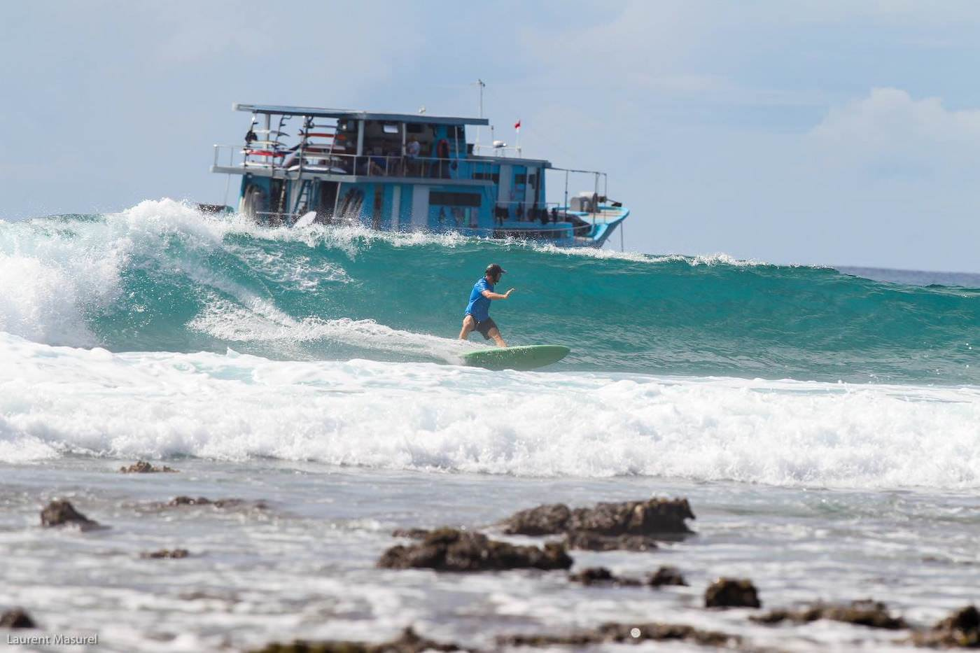The Dream Banyak Islands Surf Charter Boat waves
