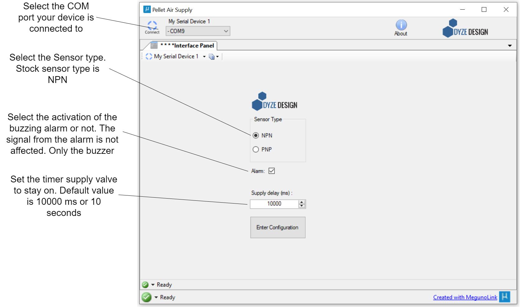 Configuration inputs